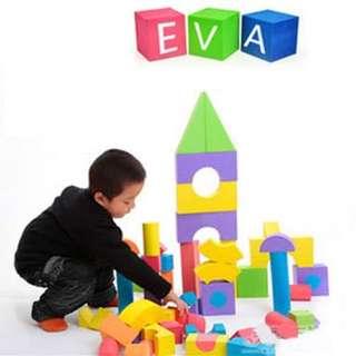 Evafoam blocks toy