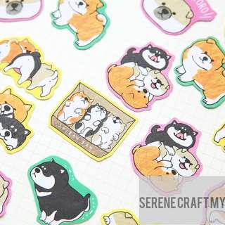 30pcs Shiba Inu Japanese Dogs Sticker Pack