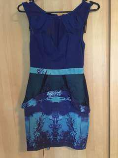 Blue paradisco dress 6 (finders keepers copy)