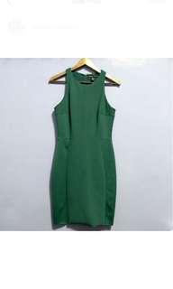 Mango Foam Green Midi Dress