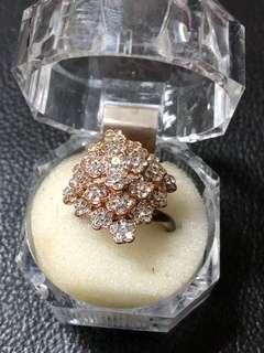Swarovski cut Crystals Flower Ring