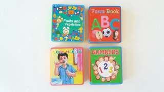 4pcs Educational Foam Books