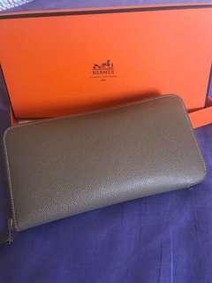Hermes silk in long wallet