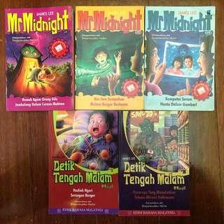 Mr Midnight Books in Malay/Buku Detik Tengah Malam dalam Bahasa Melayu/Malaysia by James Lee