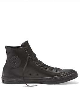 Converse Chuck Taylor All Star Black Leather Shoes