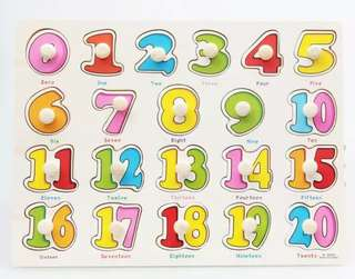 Hand Grasp Know Pegged Number Shapes Fruits puzzle