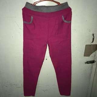 Pink stretchable pants