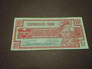 COUPON 10CENTS CANADIAN TIRE