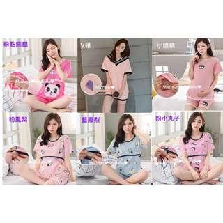 Michelle❤小舖~短袖孕婦裝哺乳裝孕婦衣哺乳衣月子服孕婦套裝哺乳套裝月子套裝