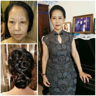 $68 Makeup & hairstyle service