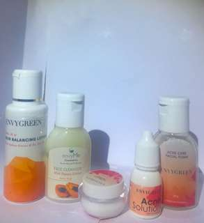 Paket trial kit for acne skin