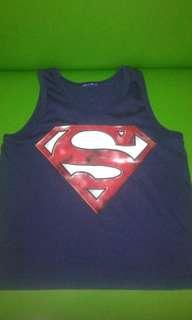 Superman sando/old navy shirt