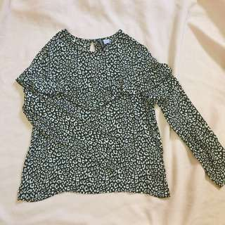 H&M PRINTED BLOUSE