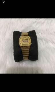 Rush Casio gold watch