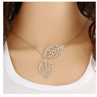 Alloy Necklace Tree Leaf Charm Pendant Chokers Neclaces For Women/Girl