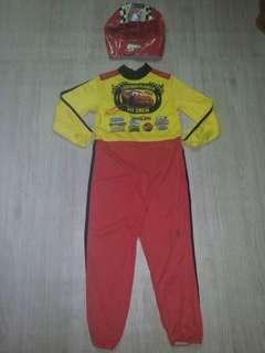 Car racing costume 4-6 yrs old