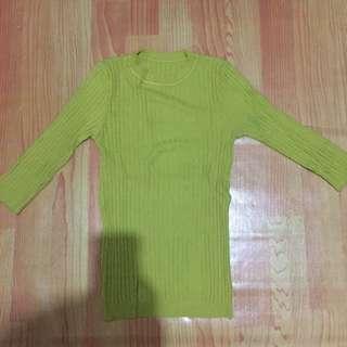 Atasan knit lime