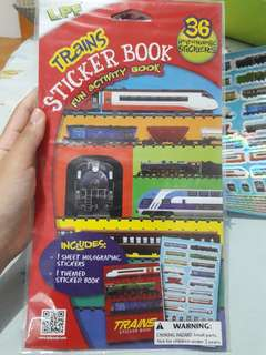 Trains Sticker Book