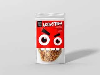 Goobernuts spicy nuts rainy day snack