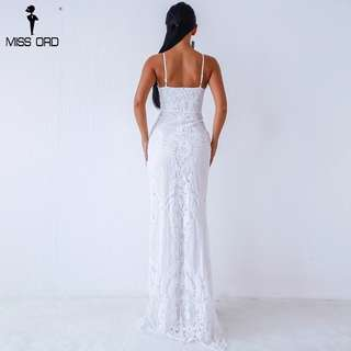 White Sequin Formal Dress - worn once