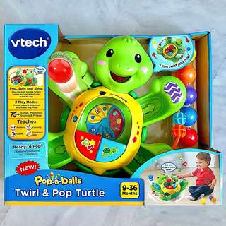(In-Stock) VTech Pop-a-Balls Twirl & Pop Turtle (Brand New)