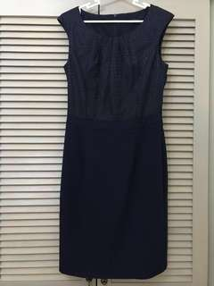 Esprit navy blue office dress