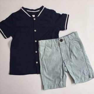 Polo shirt + shorts set