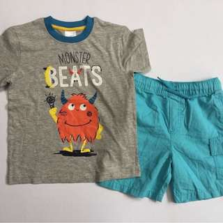 Shirt + shorts set