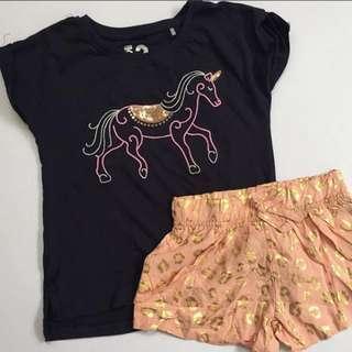 Shirts + shorts set for girls