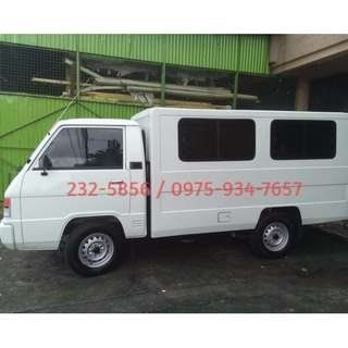 L300 van for rent - dual aircon