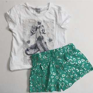 Tshirt + short set for girls A