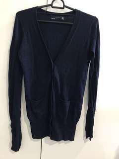 Zara navy cardigan
