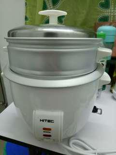 1.8L Hitec Rice Cooker with white steam