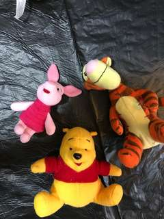 Pooh and friends plush toys