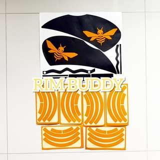 🚚 DYU Matte Black Kit + Custom Reflective Logos + Reflective Rims