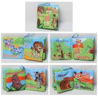 Baby Cloth Book - My animal Park