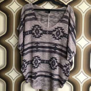 Forever 21 Knitted top w/ Tribal Prints