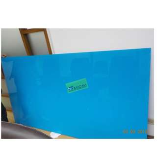 TEMPERED GLASS WRITING BOARD - BLUE COLOR--KHOMI