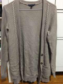 Beige Knit Cardigan (American Eagle - small)