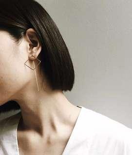 Square loop earring