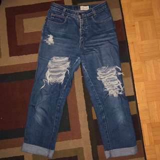 CALVIN KLEIN VINTAGE RIPPED JEANS