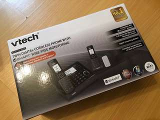 Vtech VC7151-202A TWIN DIGITAL CORDLESS PHONE WITH VSMART
