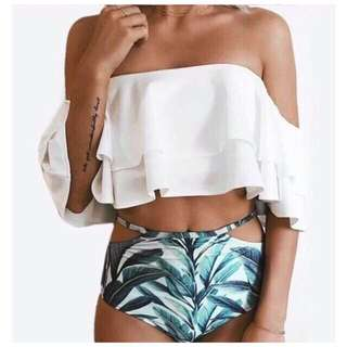Two Piece Off Shoulder Swimsuit