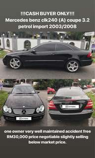 !!!CASH BUYER ONLY!!! Mercedes benz clk240 (A) coupe 3.2 petrol import 2003/2008