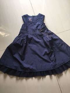 Navy tutu dress sleeve less