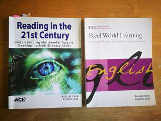 1) Reel World Learning 2) Reading in the 21st Century