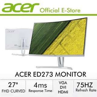 "Acer 27"" Curved Monitor with Built-in Speakers"