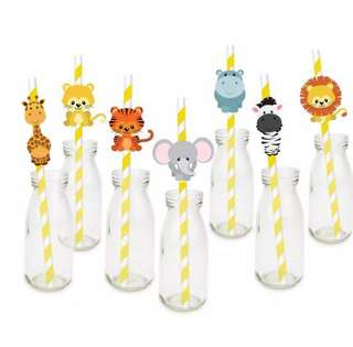 Animal theme drinking straws! Order now only $11 for 21 straws!