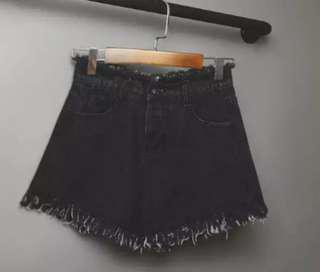 5XL Black denim shorts