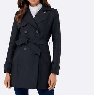 FOREVER NEW TINA TRENCH COAT in black